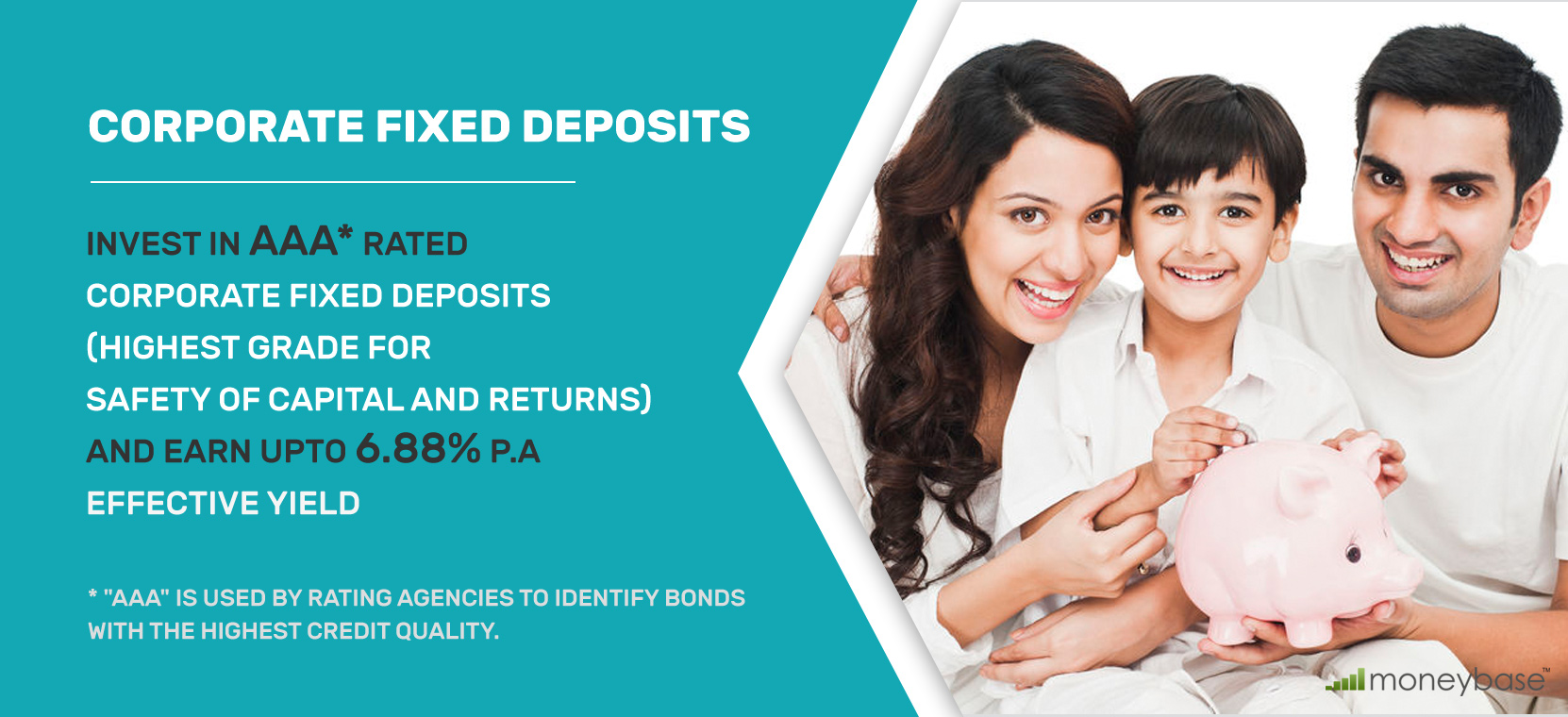 Moneybase Corporate Fixed Deposit Earn upto 6.88%